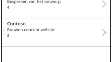 Een SharePoint lijstweergave in een PowerApp