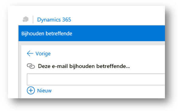 CRM voor Outlook