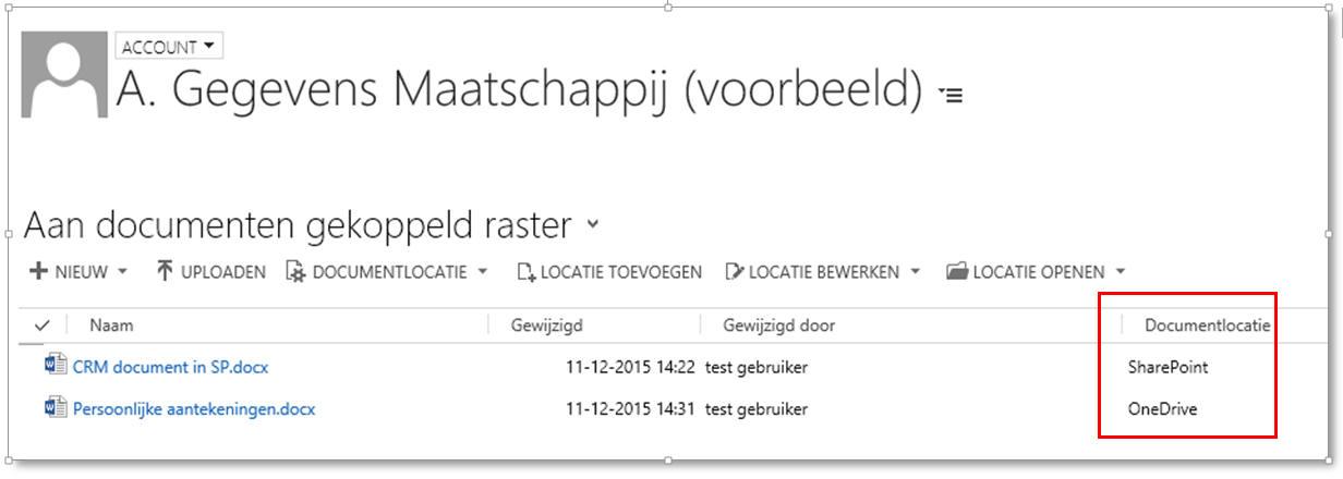 Microsoft Dynamics 365/CRM Online integratie met OneDrive