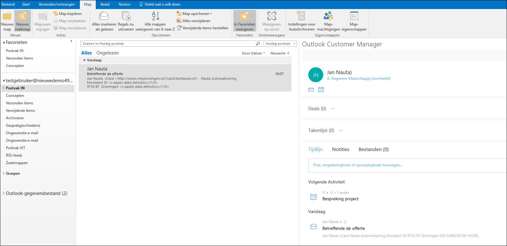 Outlook Customer Manager voor Outlook 2016 gratis