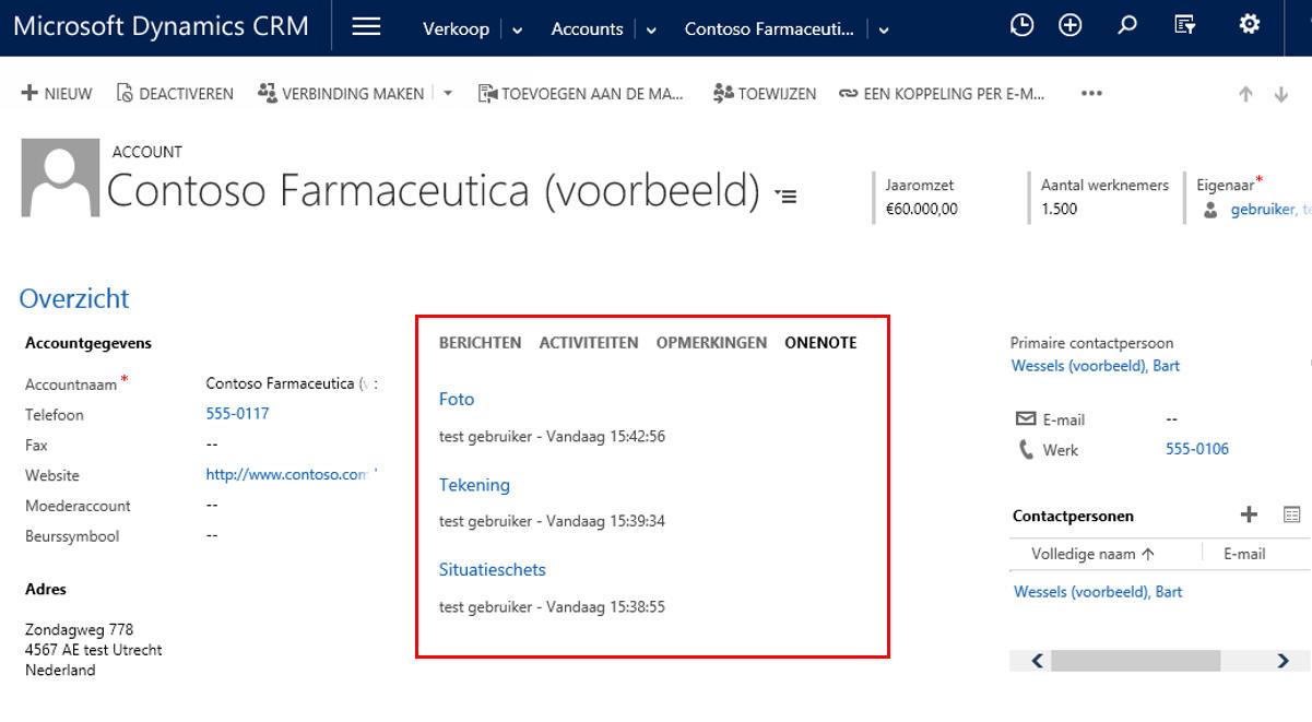 Microsoft Dynamics 365/CRM Online - OneNote integratie