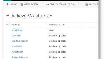 Portal voor Microsoft Dynamics 365/CRM software
