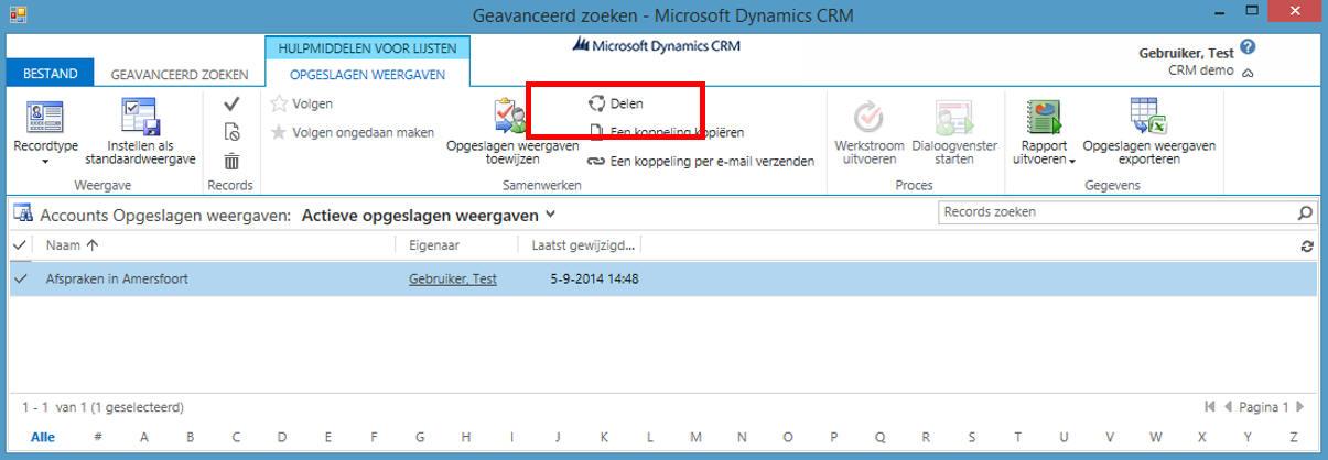 Weergave delen in dynamics 365 crm nauta automatisering - Geavanceerd zoeken ...