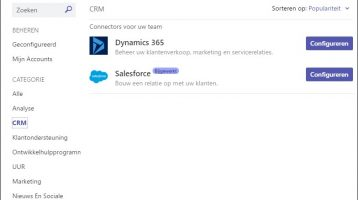 Dynamics 365/CRM en Microsoft Teams
