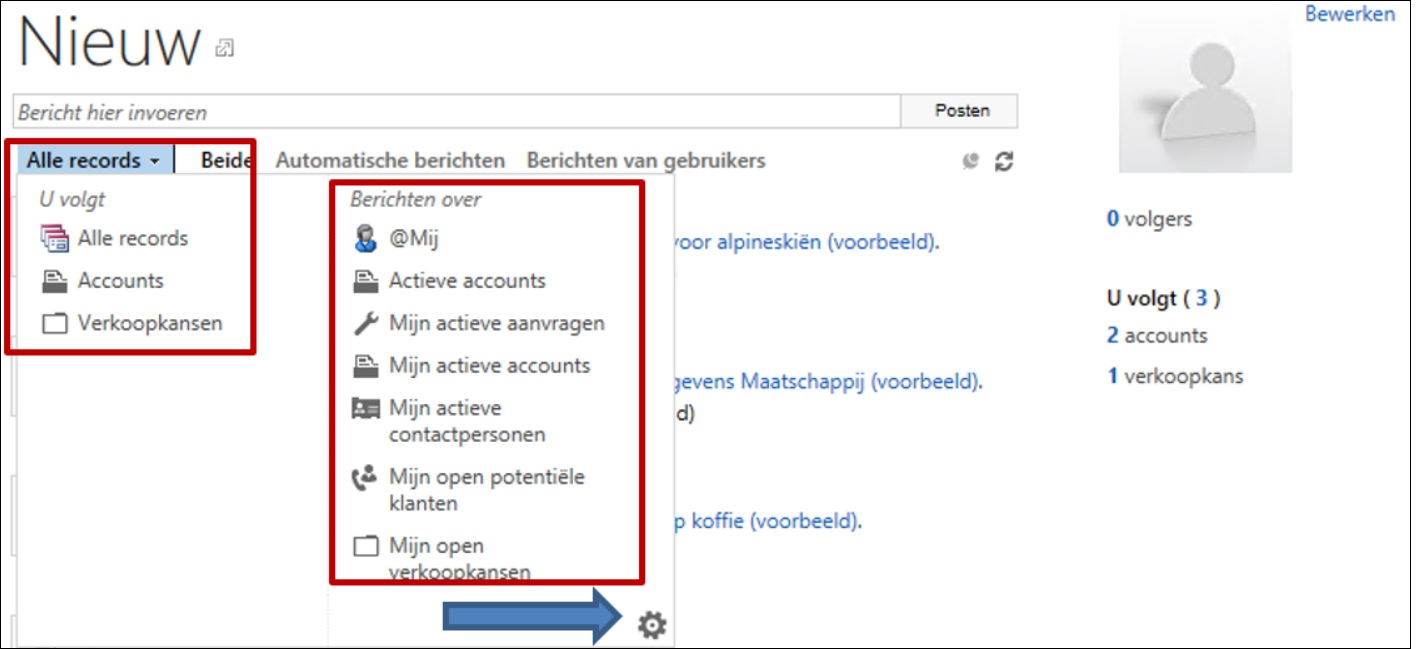 Activiteitsfeeds in Microsoft Dynamics 365/CRM