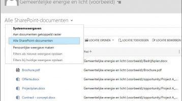 De integratie tussen Microsoft Dynamics 365 CRM Online en SharePoint is verbeterd