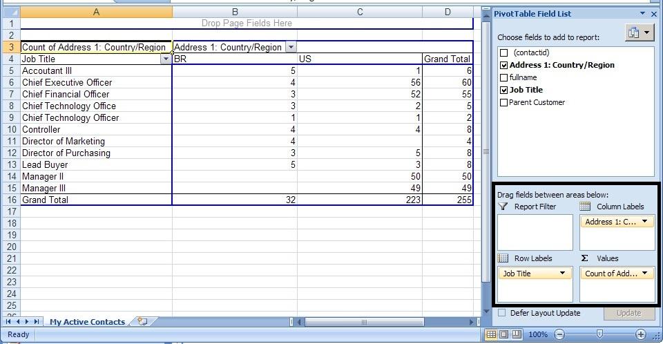 Dynamics 365 CRM export naar Excel