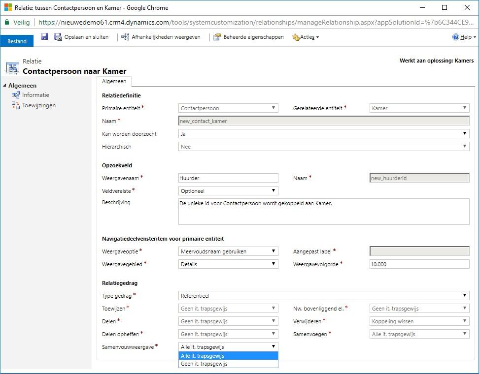 dynamics 365 crm software samenvouwweergave