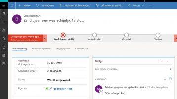 Microsoft Dynamics 365 CRM for Sales voorjaar 2018 update