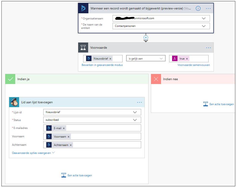 Dynamics 365 CRM en Microsoft Flow