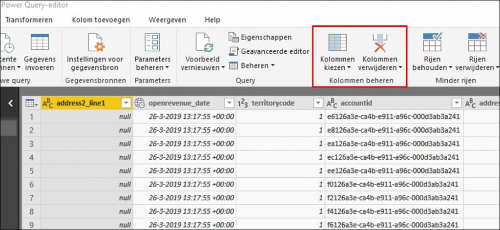 power bi query bewerken