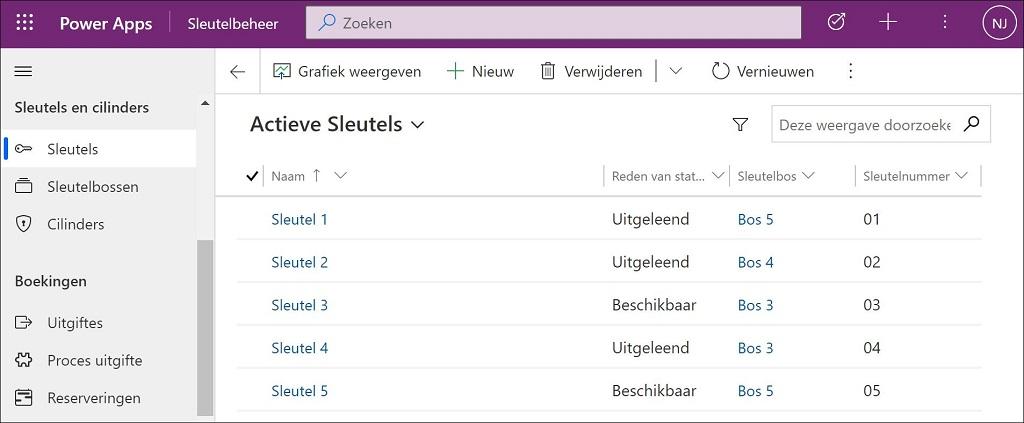 Sleutelbeheer software als power app. Groningen, Drachten, Heerenveen, Leeuwarden, Delfzijl, Assen, Zwolle.